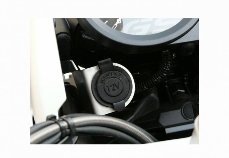Waterproof cigarette lighter socket  with connecting cable with fuse to  battery for R 1200 GS / ADV GSEMOTION