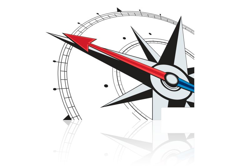 Wind Rose Sticker for central panel aluminum panniers GSEMOTION SAS